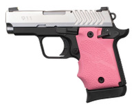 Hogue Rubber Grip W/Finger Grooves For Springfield 911-9mm-Pink (49087)