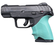 Hogue HANDALL Beavertail Grip Sleeve For Ruger Security-9 Compact-Aqua (17714)