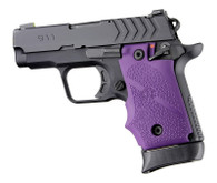 Hogue Rubber Grip W/Finger Grooves For Springfield 911-.380-Purple (48086)