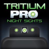 TruGlo Tritium PRO Night Sight Set For S&W 9 Shield EZ-Green W/White Ring (TG231MP4W)