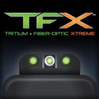 TruGlo TFX Glock Tritium Fiber Optic XTREME Sight Set For Glock High 20, 21, 25, 28, 29, 30, 31, 32, 37, 40 & 41 (TG13GL2A)