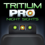 TruGlo Tritium PRO Night Sight Set For S&W 9 Shield EZ-Green W/Orange Ring (TG231MP4C)