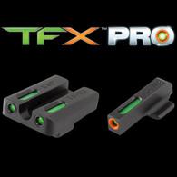 TruGlo TFX PRO Kahr Arms Night Sight Set-Green W/Org Ring (TG13KA1PC)