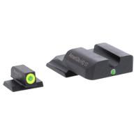 AmeriGlo S&W M&P Shield i-Dot Tritium Night Sight Set-LumiGreen Front (SW-345)