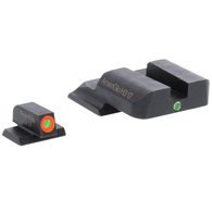 AmeriGlo S&W M&P i-Dot Tritium Night Sight Set-Orange Front Outline (SW-201)