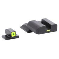 AmeriGlo S&W M&P Shield Tritium Night Sight CAP Set With LumiGreen Front (SW-618)