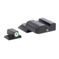 AmeriGlo S&W M&P Shield i-Dot Tritium Night Sight Set-White Front Outline (SW-141)