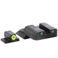 AmeriGlo S&W M&P Tritium Night Sight Set-Front LumiGreen Outline (SW-249)