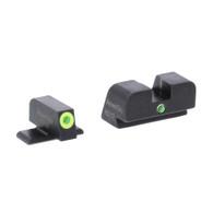 AmeriGlo Sig Sauer i-Dot Tritium Night Sight Set-LumiGreen Front Outline (SG-301)