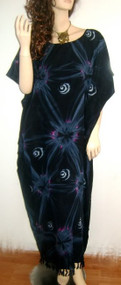 STAR Black Pink Cool Kaftan Caftan Dress Plus Free Size