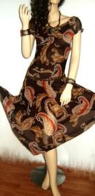 Sexy Mocha Floaty Hanky Floral Summer Dress UK size 8-10