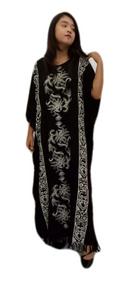 New PENANG BLACK Kaftan Dress Cool Buttersoft Dress - Freesize
