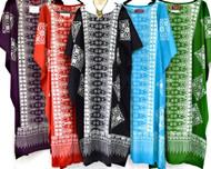 MALAYA 100% Cotton Kaftan Long Batik Dress - One Size