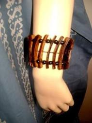Exotic Coconut Shell Elastic Bangle Tribal Bracelet