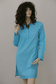 Kurta Top Indian Light Summer Blouse Shirt Kaftan Ladies Womens Long Embroided