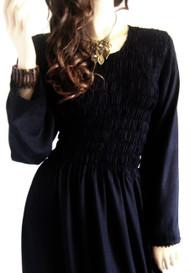 URBAN Seren Smocked Long Sleeve Dress