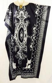 BALI Beautiful 100% Cotton Batik Kaftan Dress in Black, Red or Blue - Freesize