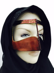Batoola Metallic Bedouine Niqab Arab Veil Gulf Hijab Muslim Women Mask