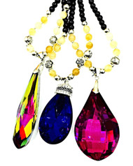 WOW Big Gem Jewellery Pendant Long Chain Chunky Statement Beads Necklace
