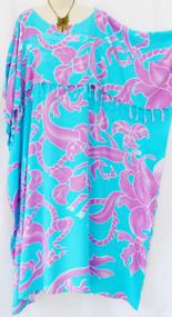MAYA Ubud Resort kaftan Ladies Dress Long Frill One Size Cool Summer Womens New