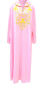Sequinned Egypt Embroidered Ladies Long Sleeved Dress Arabic House Kaftan Stretchy