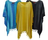 Stripey Ladies Kaftan Top T-shirt Poncho Hand Made Vibrant Large Womens Stripes