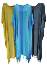 Stripey Ladies Kaftan Long Ethnic Hand Made Vibrant Large Womens Cool Stripes