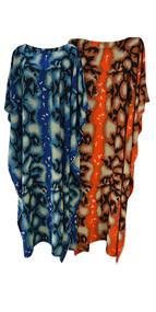 Snake Print Ladies Kaftan Long Ethnic Hand Made Vibrant Large Womens Cool Motif