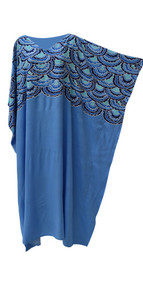 MERMAID Amazing Soft Kaftan Caftan Cool Long Maxi Ladies Beach Coverup Dress