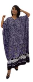 NADIA 100% Cotton Floral Batik Kaftan Caftan Long Beach Swimwear Maxi Dress  Robe