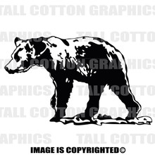 grizzly black vinyl decal
