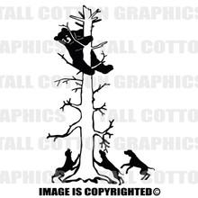 cub up tree black vinyl decal