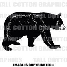 bear black vinyl decal