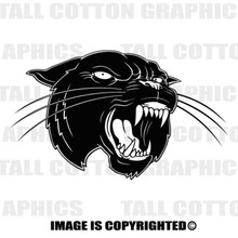 panther black vinyl decal