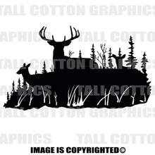 deer family black vinyl decal