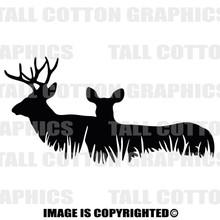 buck and doe black vinyl decal