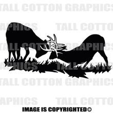 bucks fighting black vinyl decal