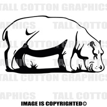 hippo black vinyl decal