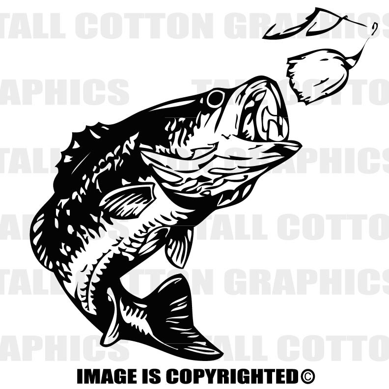 Barbel Vinyl Decal Sticker Fishing copper colour
