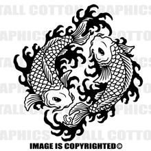 koi black vinyl decal
