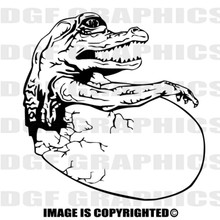 baby gator black vinyl decal