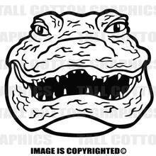 gator head black  vinyl decal