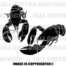 lobsters black vinyl decal