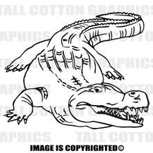 gator black vinyl decal