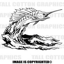 swordfish black vinyl decal