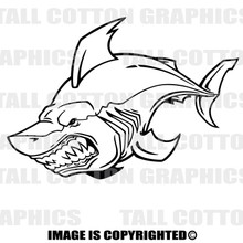 shark black vinyl decal