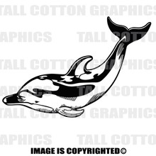dolphin black vinyl decal