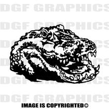 Gator black vinyl decal