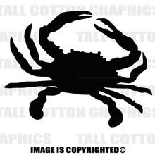crab black vinyl decal