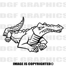 cartoon gator black vinyl decal